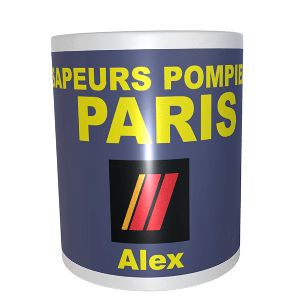 Mug grade pompier BSPP