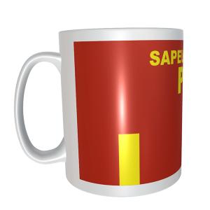 Mug grade pompier BSPP. Un accessoires pour tous les pompiers !