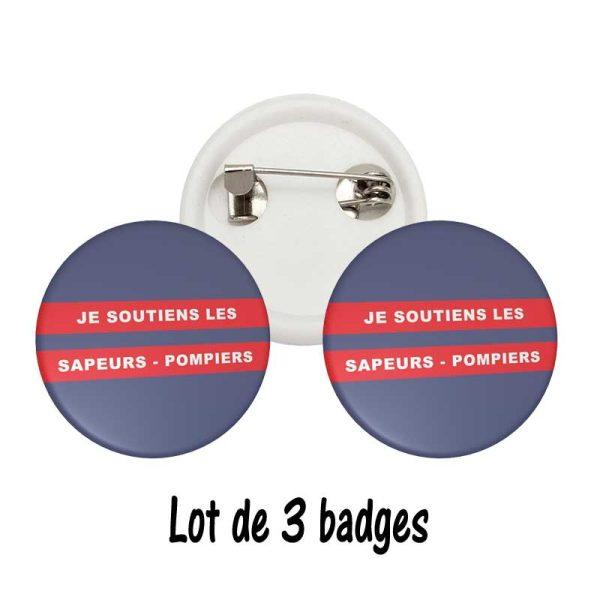 badge pompiers