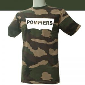 T-shirt pompier - La Boutique Des Pompiers