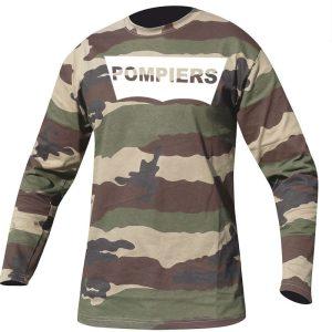 T-shirt Pompier Camouflage- La Boutique Des Pompiers