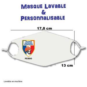 Masque pompier personnalisable et lavable