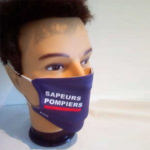 Masque pompier personnalisable