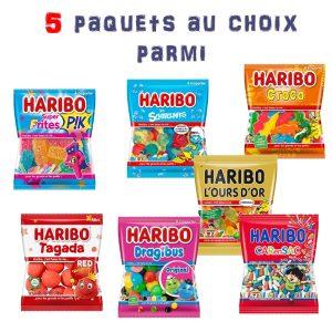 Boite camion de pompier et bonbons Haribo